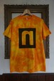 "STENCIL TIEDYE-TEE ""NEUTRAL 9TH ANNIVERSARY【BROKEN】"""