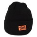 WORK LABEL BEANIE(BLACK)[TH9S-026]