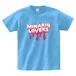 minario / LOVERS LOGO T-SHIRT SAX-BLUE