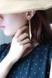 dead stock swing gold sword earrings