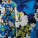 S~Lサイズ【アメリカ製古着】1960年代ヴィンテージ◆ブルーにハイビスカス プルメリア◆マキシ丈ハワイアンドレス