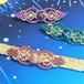 天然石のマクラメ編み帯留/クリオネ