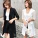 テーラードジャケット 韓国 ファッション レディース アウター サマージャケット 薄手 メッシュ UVカット シンプル (DCT-588144420346)