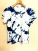 【20%OFF  ピュアコットンレディス手染めTシャツ ホワイトLサイズ猫 】