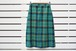 VINTAGE Green x Yellow check wool straight skirt