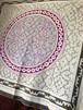 大判刺繍-03 150cm 円ピンクと紫 アマゾン・シピボ族の泥染め