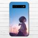 #048-004 モバイルバッテリー かわいい おしゃれ アニメ柄 ノスタルジー 綺麗  iphone スマホ 充電器 タイトル:上を向いて 作:みふる