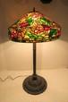 特大 ステンドグラス ランプ 3灯 照明 高93cm アンティーク