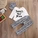 3PCS新生児ベビーボーイズトップロンパーパンツレギンス帽子衣装セット