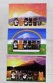 猫六地蔵と富士山のポストカード3枚セット