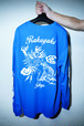 "Rakugaki ""TIGER & DRAGON"" Long Sleeve T-Shirts Royal"