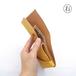 きはだ染め革のミニ財布【chotof/ちょとふ】#右利き用 #草木染めレザー #手縫い