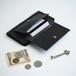 【カードがたくさん入る】フラップポケット付 アイフォンケース(ブラック)手帳型 牛革 TPUソフト ILL-1188