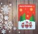 サンタと弟子のクリスマスカード