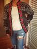 Beach line★standcollar knit jacket