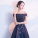 【送料無料】マキシ丈 Aライン ドレス フラワーモチーフ 刺繍 シースルー 編み上げ リボン 結婚式 二次会(B128)