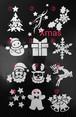 ステンシルシート.12枚セット☆クリスマス