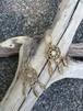 インディアンのお守り 真鍮製 パワーストーン・ドリームキャッチャーピアス  ムーンストーン