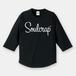 『Soulcrap』筆記体ロゴ ラグラン(3/4スリーブTシャツ) (black)