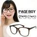 ダテ眼鏡 py2442 アラレちゃん めがね ページボーイ UVカット クリアサングラス 伊達メガネ メンズ & レディース 伊達メガネ ビックフレーム PAGE BOY メガネ