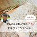コシヒカリ玄米5kg(30年産)ー農薬・化学肥料・除草剤不使用ー