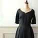 黒シャンタン地のVintageワンピースドレス