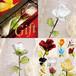 Item773 箱入り ヴェネチアンガラス ローズ ガラスの薔薇 ホワイト