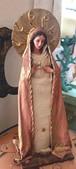 女神像&壁掛け式 ラファエル天使木彫りスタンド FLO006