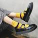レディース パンプス 春 クロスストラップ アンクルストラップ おでこ靴 ステッチ プラットフォーム フラットソール ラウンドトゥ 黒 ブラック 合皮 エナメル マット ロリータ メイド フェミニン かわいい 新生活 歩きやすい 韓国