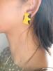 dead stock yellow earrings