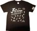 【在庫あり】【funkキマグレ企画 Tシャツ】染み込みプリント黒T×白