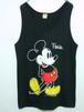 1980's Velva Sheen ミッキーマウス プリントタンクトップ USA製 ブラック 表記(L) ディズニー
