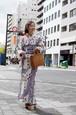 グラースオリジナル2019新作浴衣 La richesse(ラリシェス) レース花 白 セオα ポリエステル100%