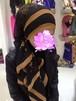 花柄スカーフ 黒系