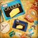 チーズが可愛いフラットポーチ(青色:小)
