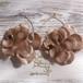 Girly Flowers  Pierce -BrownBeige-