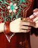 brown clear big bangle