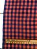 Cotton BENGAL / オレンジ + パープル チェック