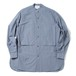 YOKE BAND COLLAR LONG L/S SH(BLUE GRAY)