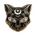 "Real Sic""Luna the Black Cat – Enamel Cat Pin"""