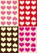 ■リリース記念4種類set A4用紙 021-024【Heart】5枚×4種 1500円