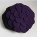 お花ベレー/黒×紫