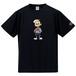 KYUS君 半袖Tシャツ [ブラック](ドライ or 綿)※備考欄にドライ生地か綿かお書きください。無記入の場合はドライになりますのでご了承ください。