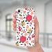 スマホケース(iPhone & Android)お花 / 色:レッド