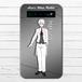 #000-021 モバイルバッテリー 執事 おしゃれ キャラクター アニメ柄 iphone スマホ 充電器 タイトル:アリうさプロジェクト 白兎(ハクト)