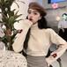 長袖 コージー シンプル 着回し力抜群 柔らか 韓国ファッション 上品 ジェントル  ニット・セーター・トップス