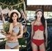 【送料無料】【3色】かわいい リボンブラ バンドゥ ホルターネック ビキニ リゾート プール 海 夏