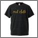 red clothロゴ & バックワンポイント / ヘザーブラック