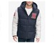 TOMMY HILFIGER	トミーヒルフィガー VARSITY HOODED  VARSITY HOODED PUFFER JACKET フルZIP 2TONE 切替しナイロン 中綿パーカー