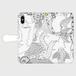 手帳型スマホケース iPhone X/XS:kazue.M_003(水中瞑想)